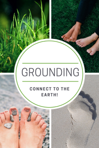 Walking on grass or sand helps you connect to the earth